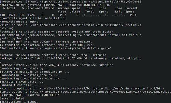 Monitorizar o servidor com o CloudStats 511
