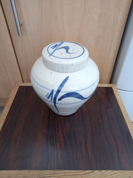 Stoneware lidded pot for ID Img_2072