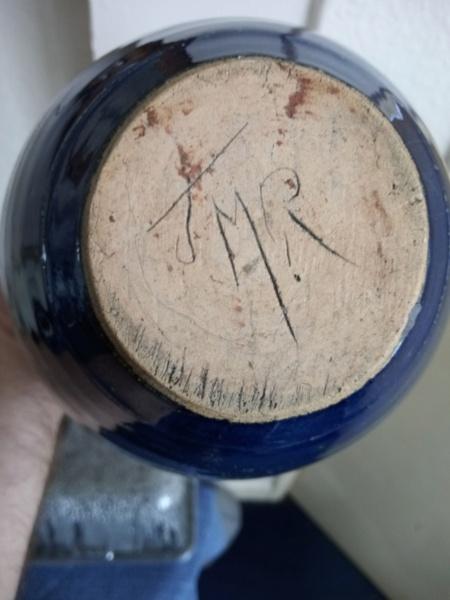 Stoneware vase with incised JMR mark. Img_2256