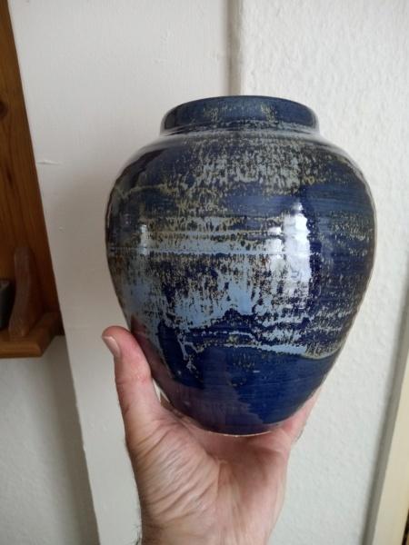 Stoneware vase with incised JMR mark. Img_2257