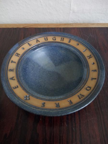 Stoneware signed bowl with verse - Deborah Hopson Wolpe Img_2382