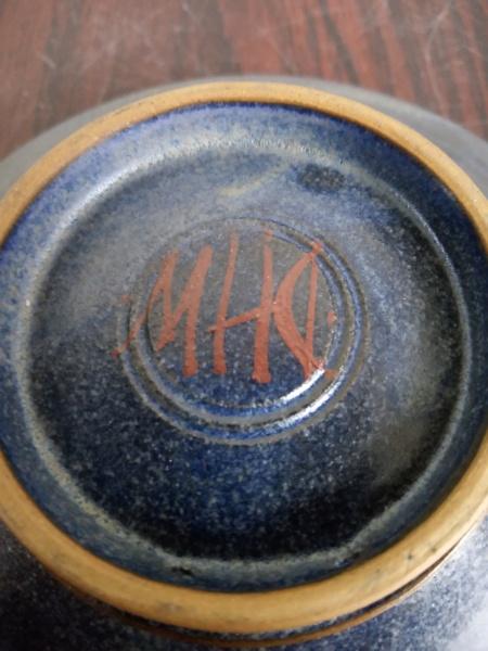Stoneware signed bowl with verse - Deborah Hopson Wolpe Img_2384