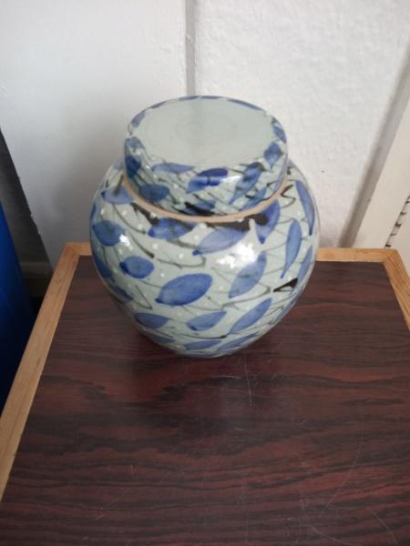Lidded stoneware jar for ID - Paul Muchan?  Img_2438