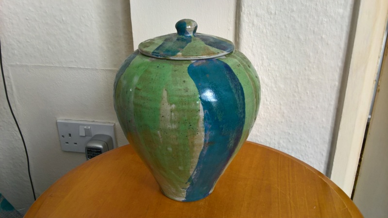 Lidded pot with clear makers JHR mark. Wp_20111