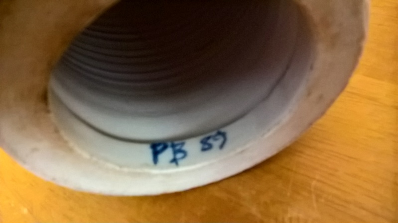 Porcelain lamp base, circa 1989, initialed PB mark Wp_20164
