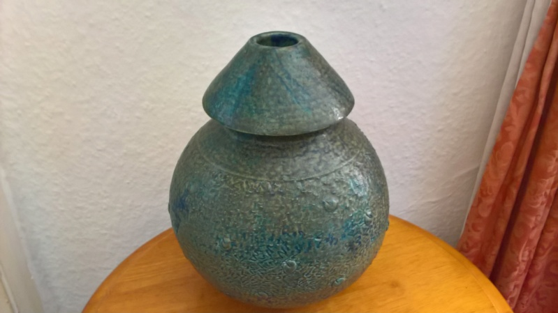 Unusual studio vase, signed H.Watts. Anyone know anything of this potter? Wp_20172