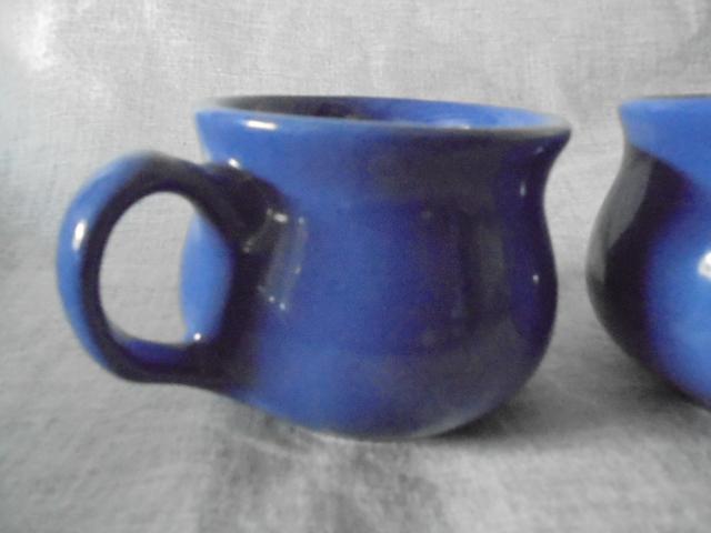 Crown Lynn cup, wine jug and sips, lidded pot Dsc03920