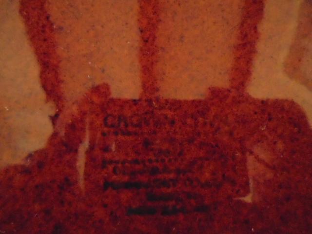Crown Lynn cup, wine jug and sips, lidded pot Dsc04911