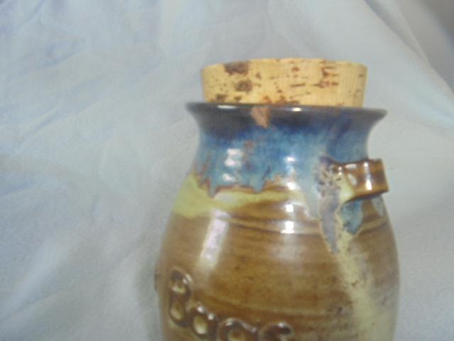 Crown Lynn cup, wine jug and sips, lidded pot Dsc07018