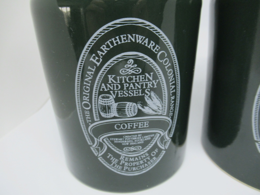 Stewart Potteries Ltd Colonial Range Coffee caddy Img_1513