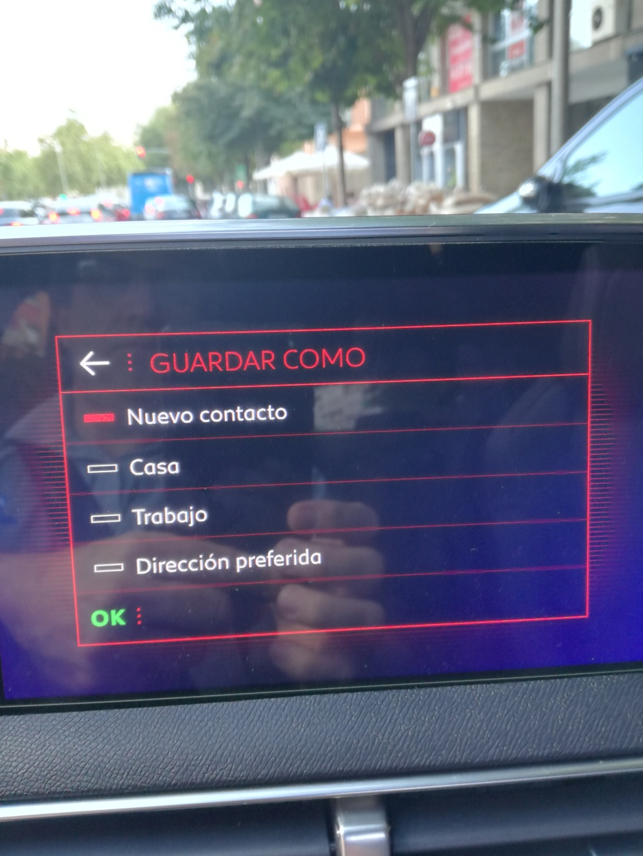 """Como guardar la POSICION ACTUAL del coche en """"Mis destinos"""" del navegador - Solucionado. Img_2035"""