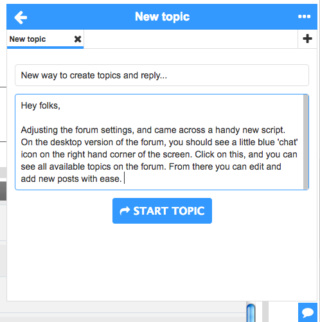 New way to create topics and reply... Screen25