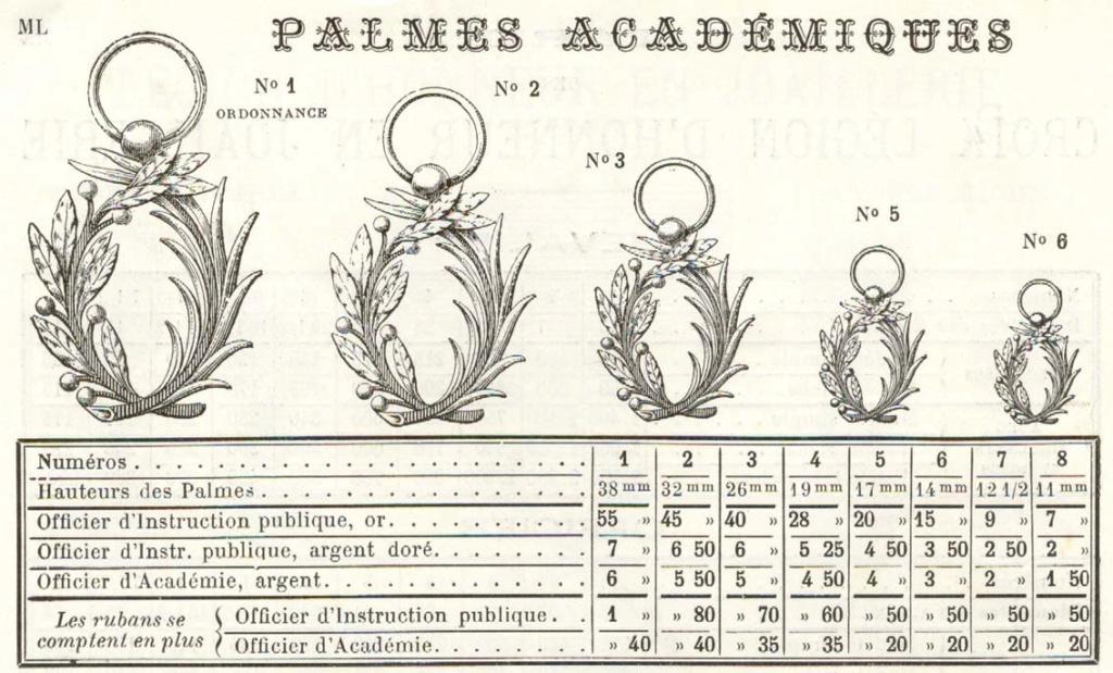 Ancienne médaille Officier des Palmes Académiques en vermeil dans son écrin R.F  Catalo50