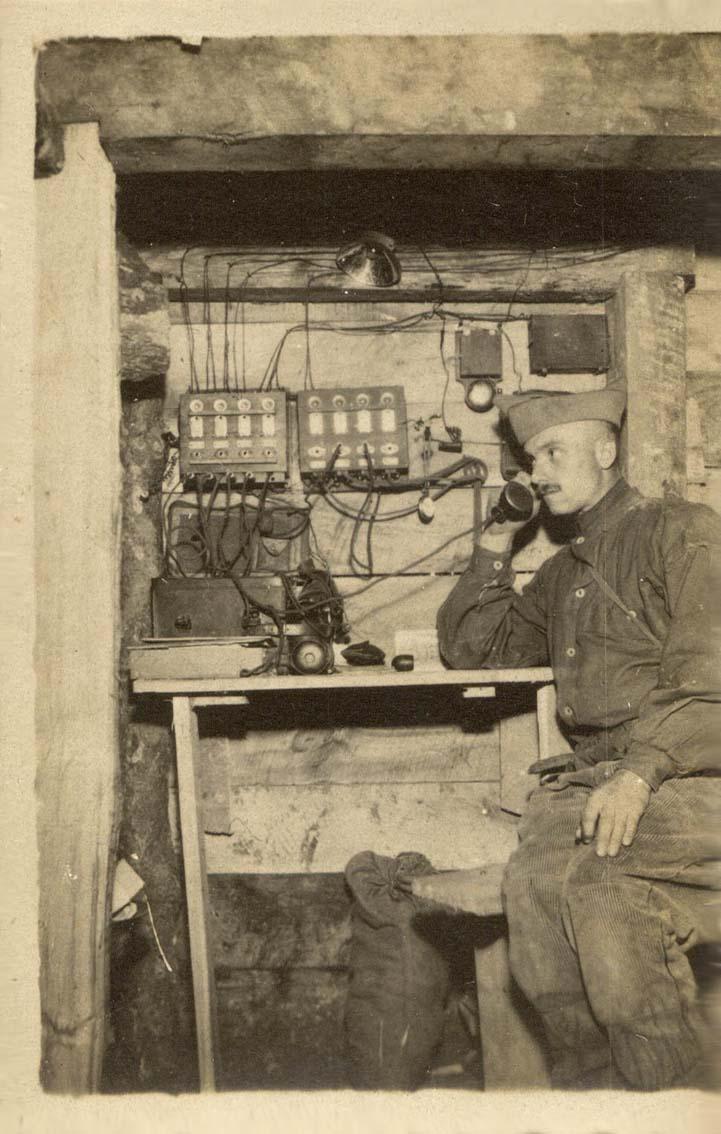 Mon Grand-Père Lucien Brochot Téléphoniste aux 5ème RAP puis 102ème RAL (14-18) Chemin13