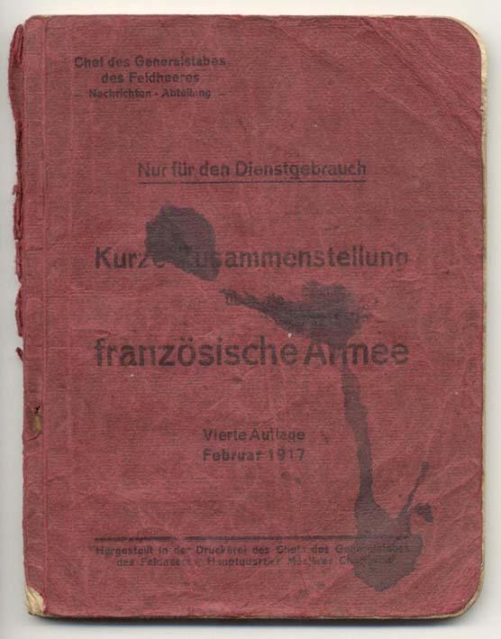 Livret allemand 1917 pour identification Armée Française Fascic10