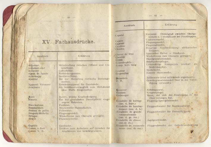 Livret allemand 1917 pour identification Armée Française Fascic11