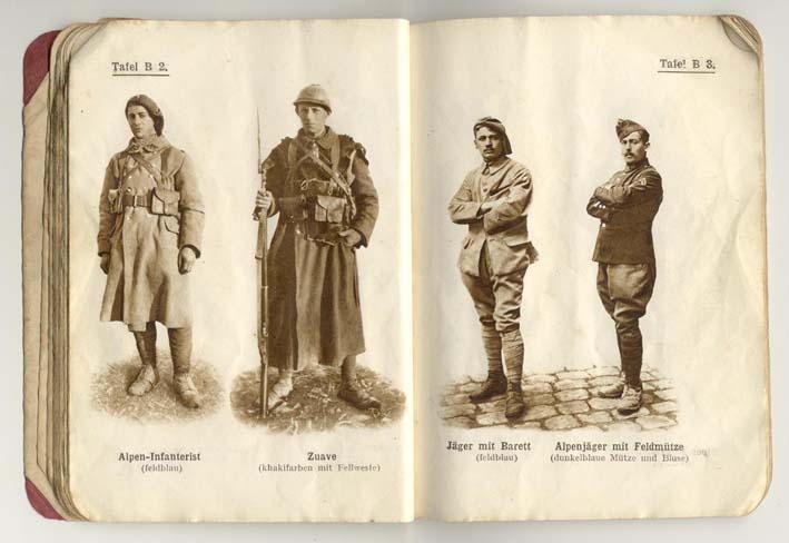 Livret allemand 1917 pour identification Armée Française Fascic12