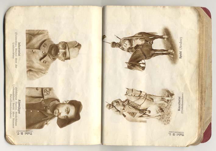 Livret allemand 1917 pour identification Armée Française Fascic13