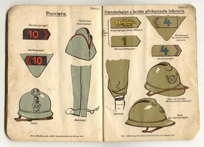 Livret allemand 1917 pour identification Armée Française Fascic15