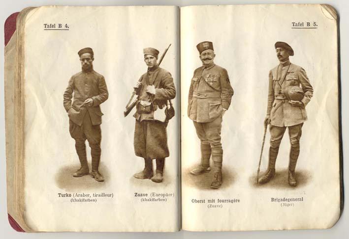 Livret allemand 1917 pour identification Armée Française Fascic18