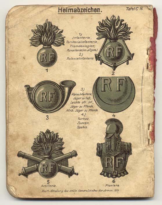 Livret allemand 1917 pour identification Armée Française Fascic19