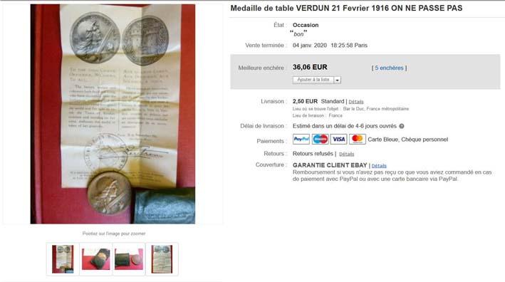Médaille de Verdun : pochette et notice ! Image115