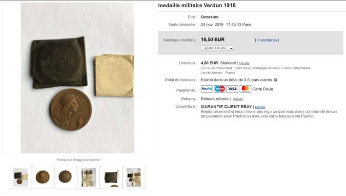 Médaille de Verdun : pochette et notice ! Image310
