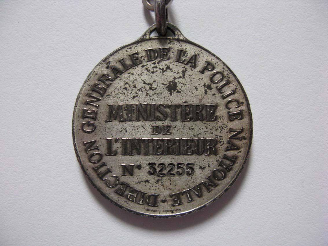 Ancienne médaille Police Nationale Mzod_d72