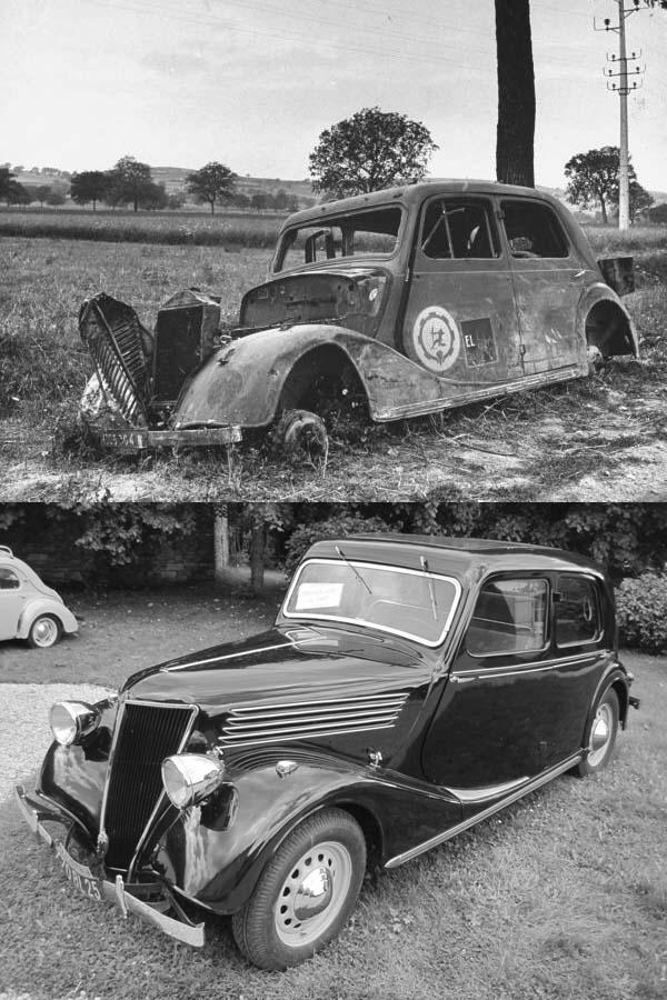 Photo de l'insigne Groupe de Transport 130/8 sur Renault Primaquatre 1940 Sans_t83