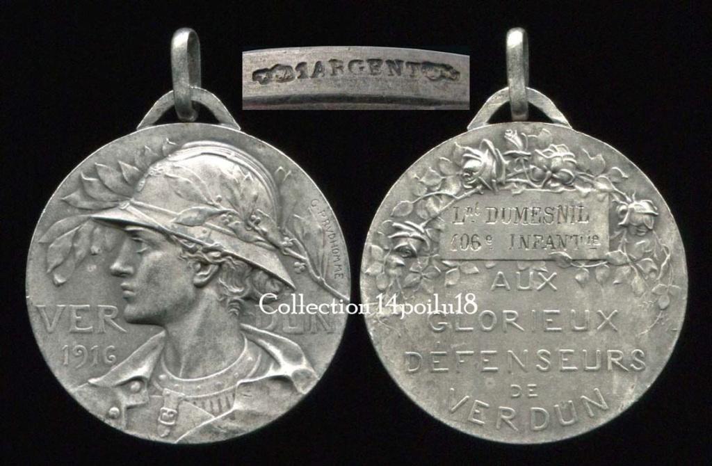 estimation cadre 6 médailles ww1 Verdu275