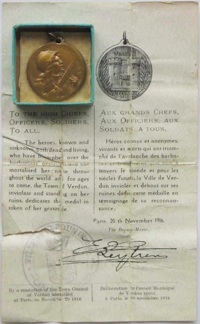 Medaille de verdun Vernie27
