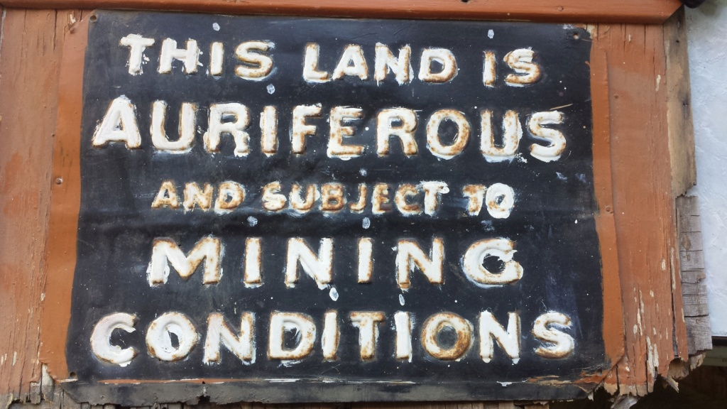 old mining lease sign 20181110
