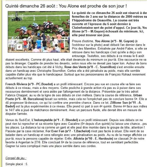 la presse hippique du dimanche 26 aout Pc911