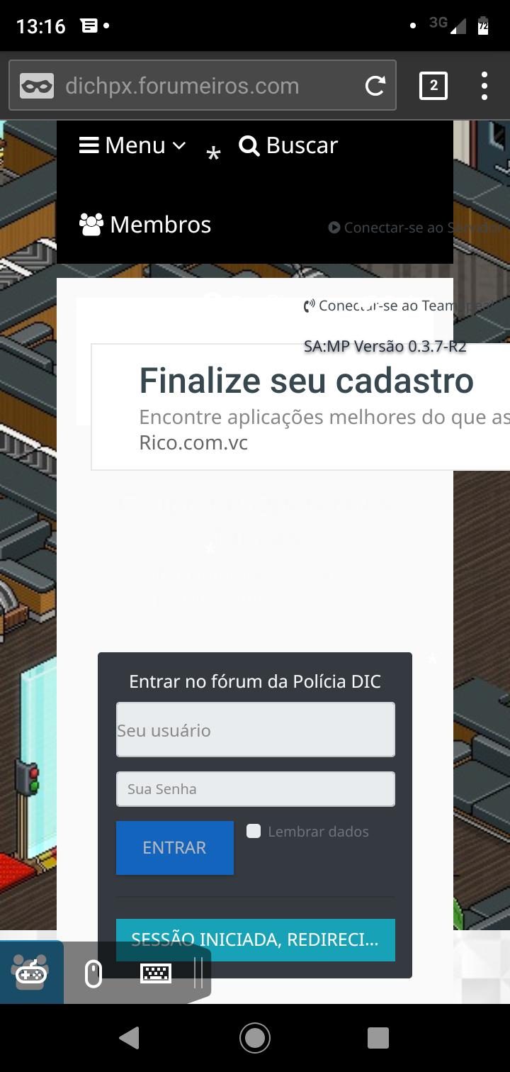 Anexar página HTML como Início Screen28