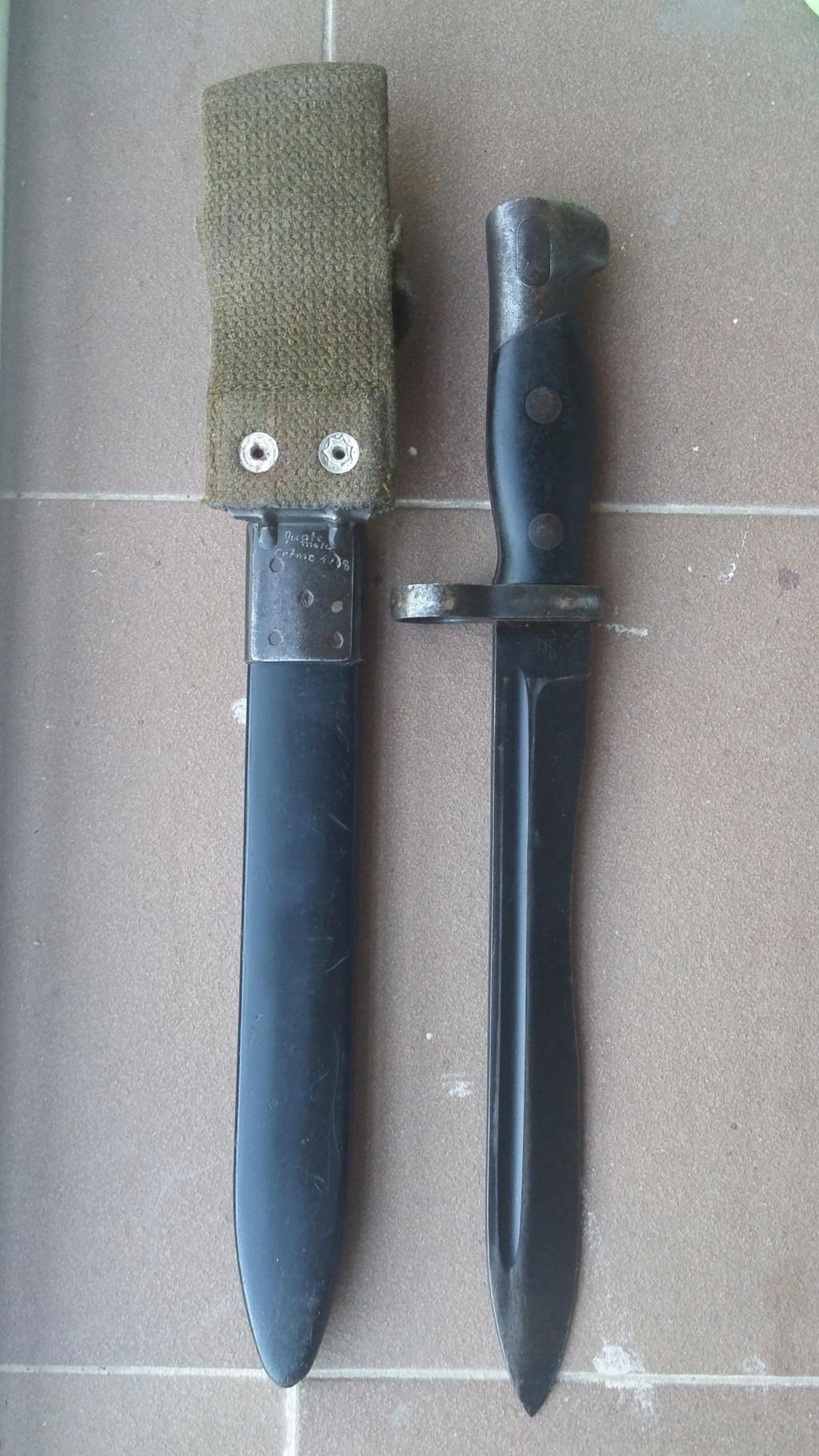 """Bayoneta CETME C para la Guardia Civil y """"de Exportación"""". Diferencias. 20180914"""