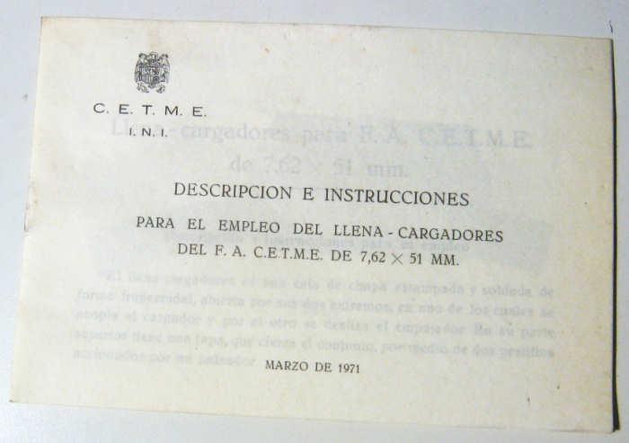 MAQUINA PARA LLENAR CARGADORES CETME B/C  Cop08611