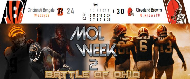 Cincinnati Bengals @ Cleveland Browns Wk210