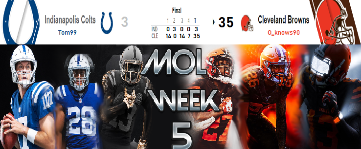 Indianapolis Colts @ Cleveland Browns Wk510