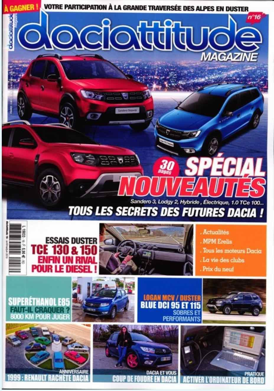 Le magazine Daciattitude n° 16 est sorti Daciat10