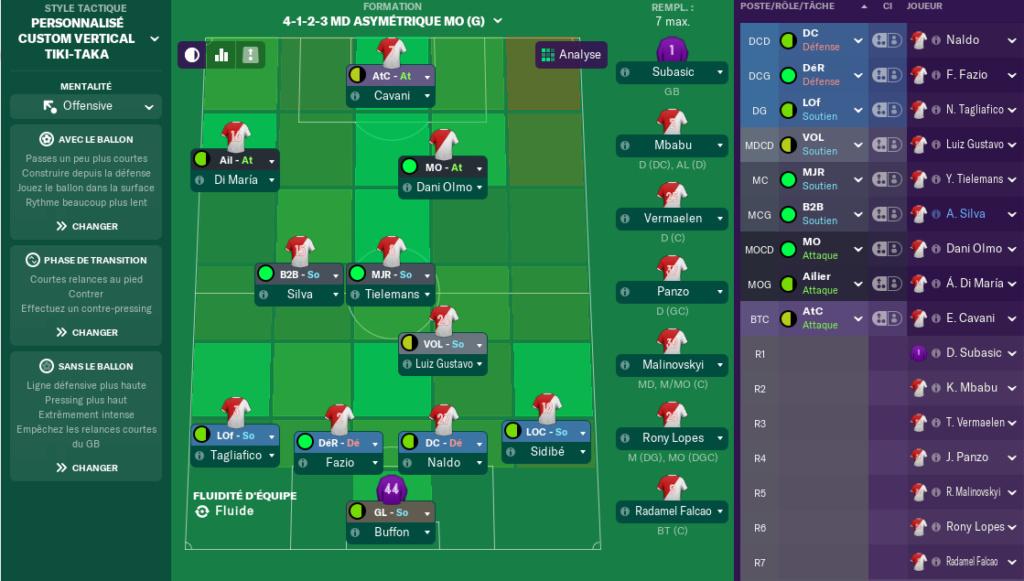 Compositions 32ème journée de Ligue match avancés Lundi 12 h Reims10