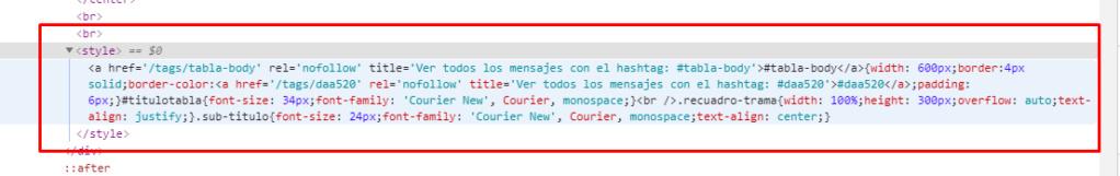 Al pegar un código en un post y previsualizarlo, se desconfigura. Screen52