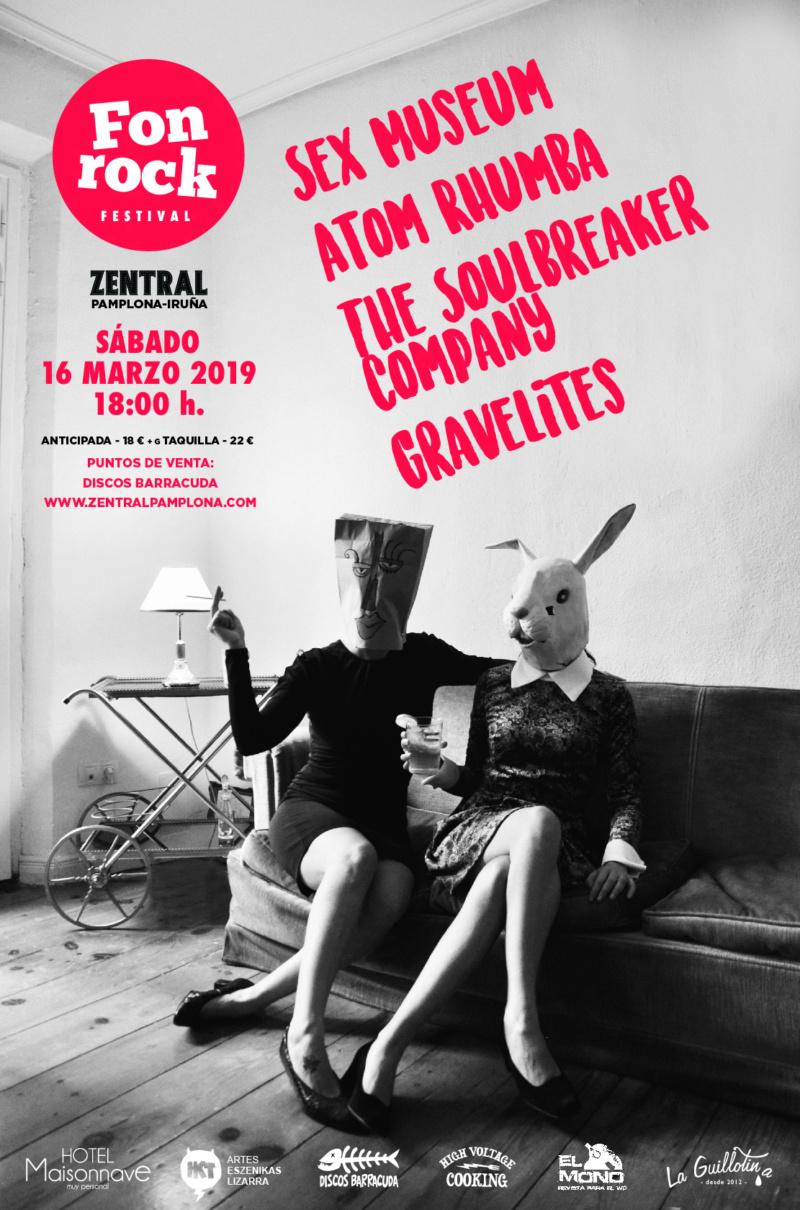 Fonrock 2019: Sex Museum, Atom Rhumba, The Soulbreaker Company & Gravelites. 16 de marzo en Zentral Fonroc12