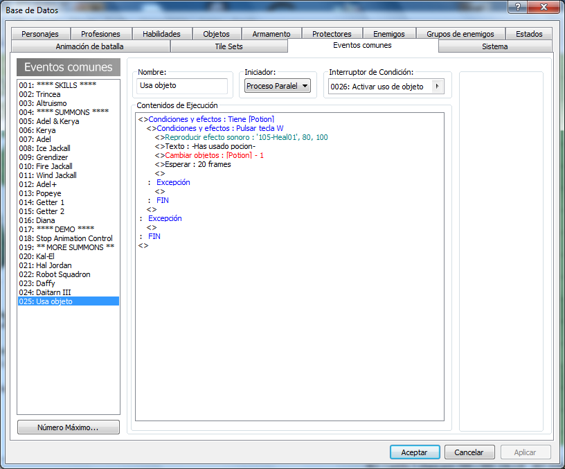 ¿ como asignar un objeto a  una letra del teclado rpg make mv? Asi_qu11
