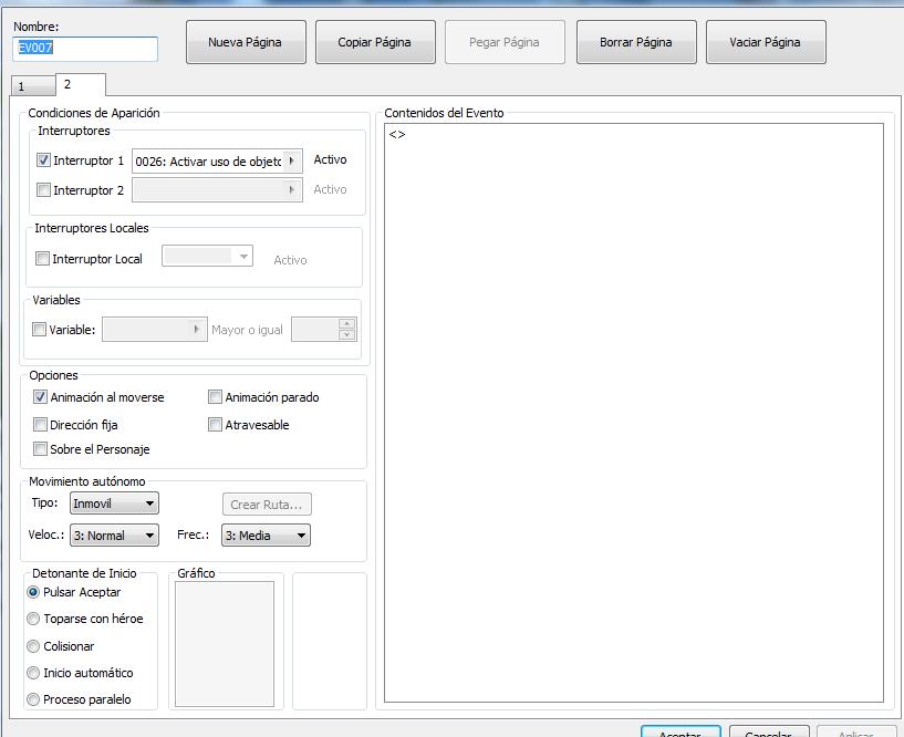 ¿ como asignar un objeto a  una letra del teclado rpg make mv? Ejempl11