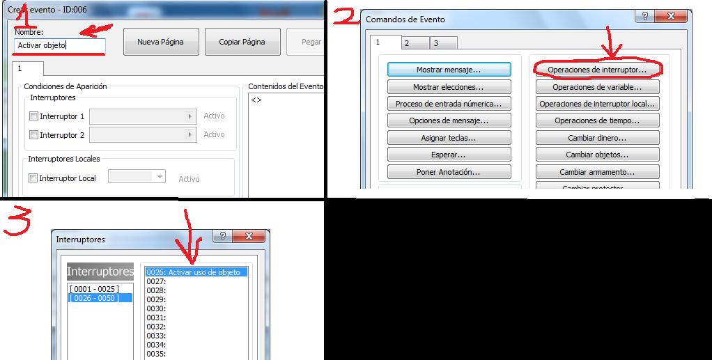 ¿ como asignar un objeto a  una letra del teclado rpg make mv? Paso_111