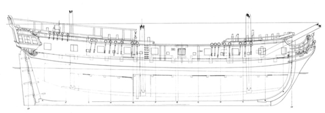 Navire corsaire - 1777 Plano010