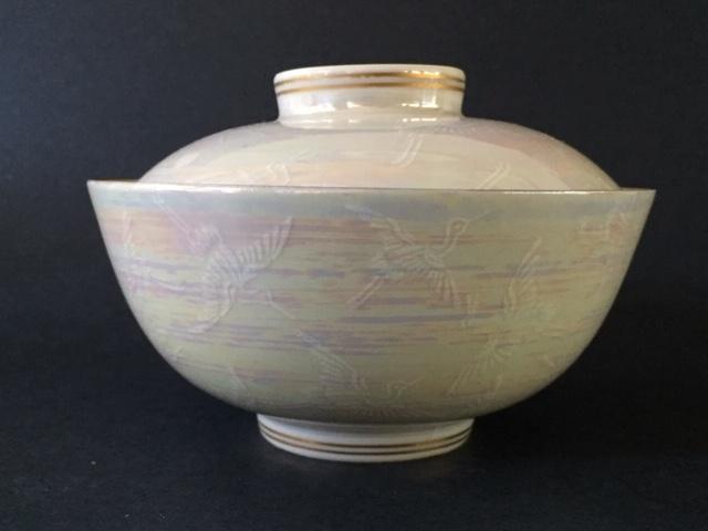 Porcelain Rice/soup bowl crane design, maker? Img_4210