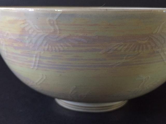 Porcelain Rice/soup bowl crane design, maker? Img_4212