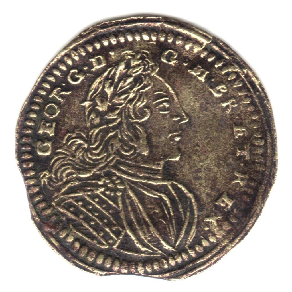Jeton Nuremberg George II roi de Grande-Bretagne. Cara30