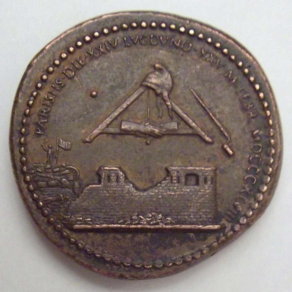 Médaille Revolution 1848 Lyon/Paris ... Cruz10